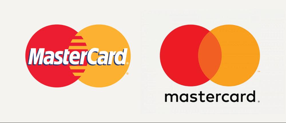 Rebranding Example: mastercard brand change