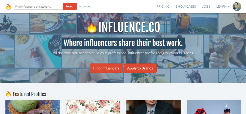 Influence.co Influencer Marketing tools