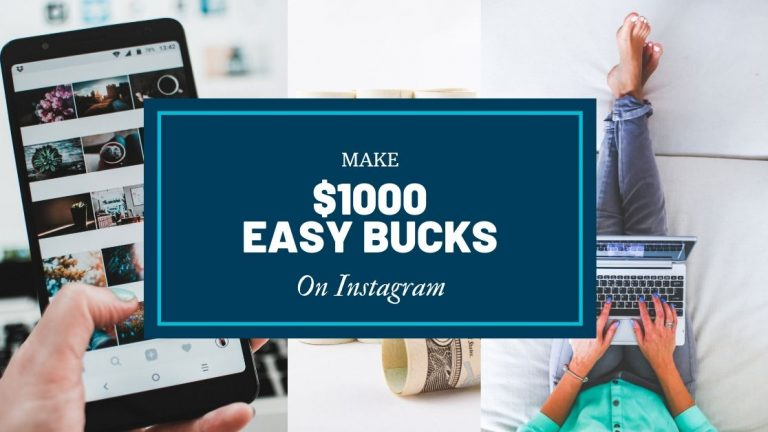 How To Make $1000 From Instagram In 30 Days