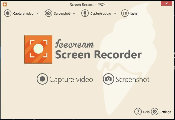 Icecream Screen Recorder Simple screen capture software