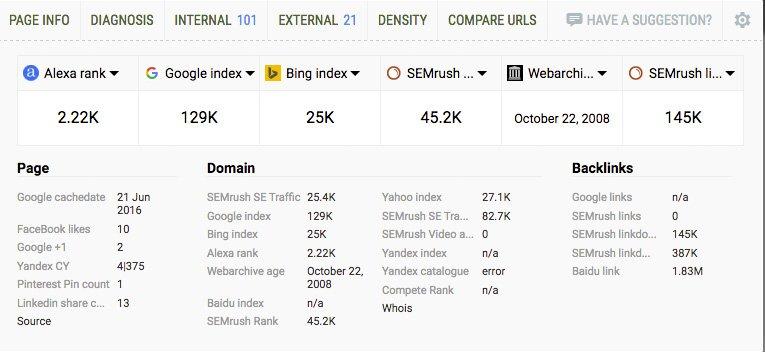 SeoQuake - SEO Tool and Keyword Analyzer Browser Extension 1