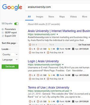 Analyze keyword, outbound link, inbound link and website ranking on any web page with detailed SEO info