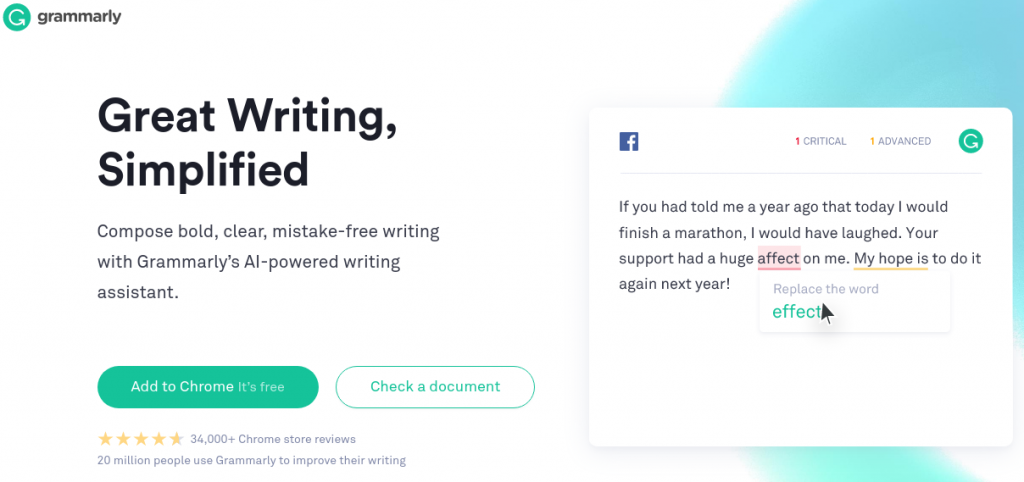 grammarly Great Writing, Simplified