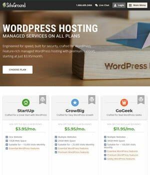 SiteGround - Best WordPress Web Hosting Service 2