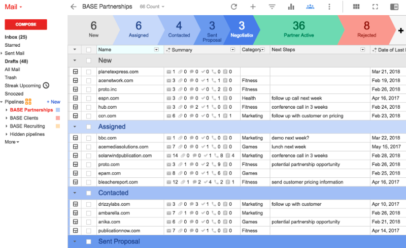 Streak Email Tracker and CRM for Gmail