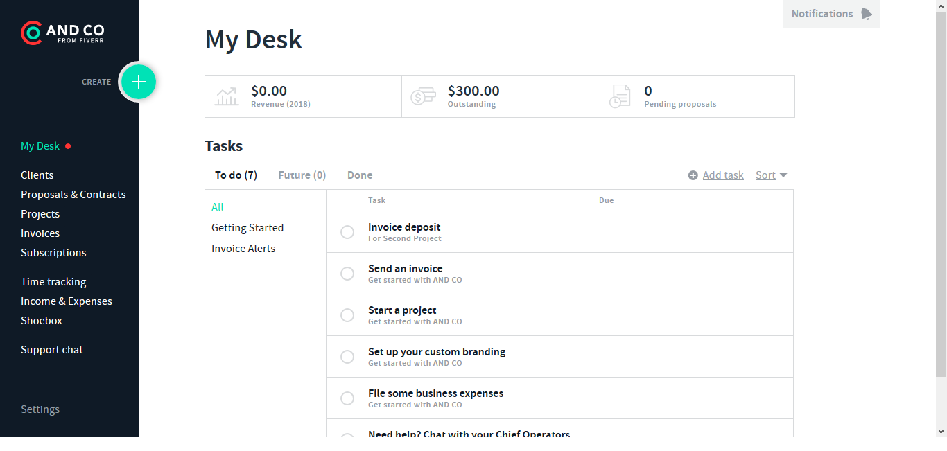 And.co Invoicing, Proposals & Expense Tracking 1