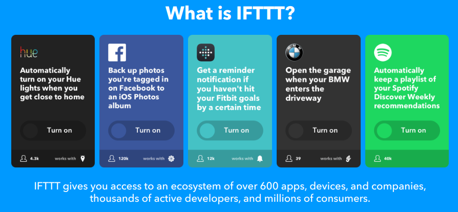 Integrate App with IFTTT