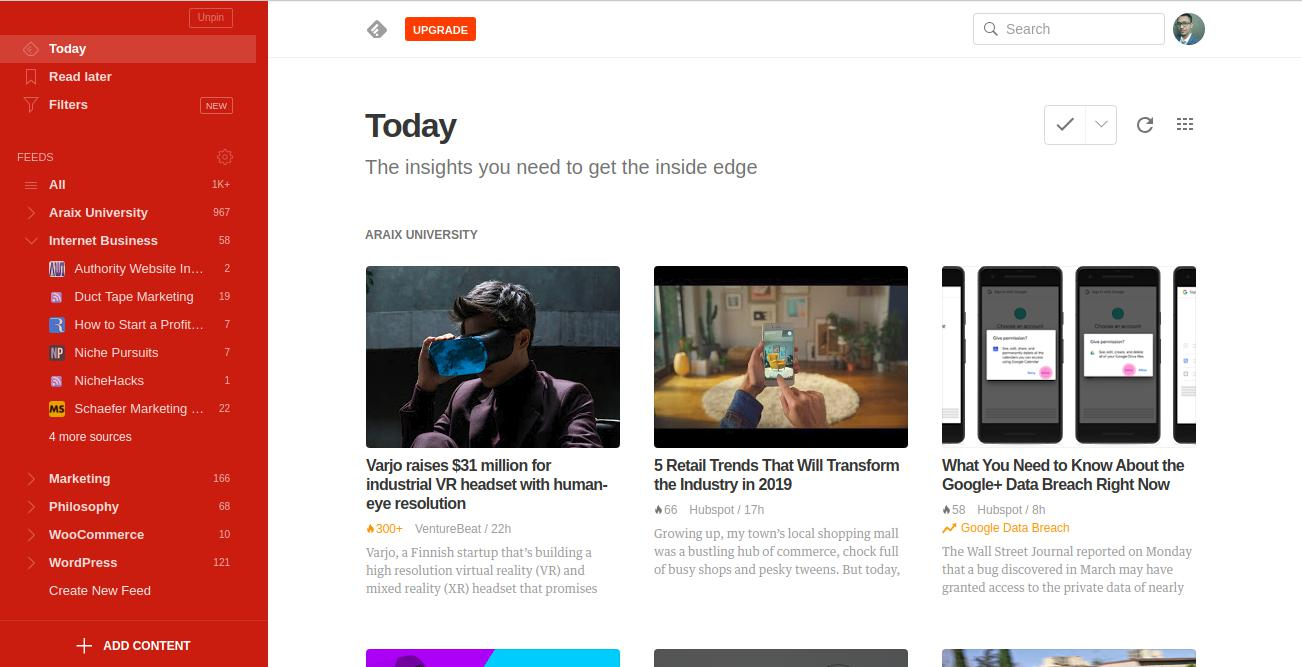 Feedly The insights you need to get the inside edge