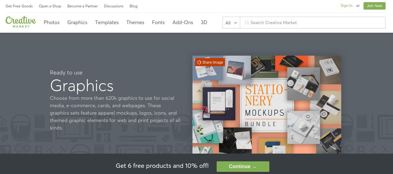 Creative Market Fonts, Graphics, Themes