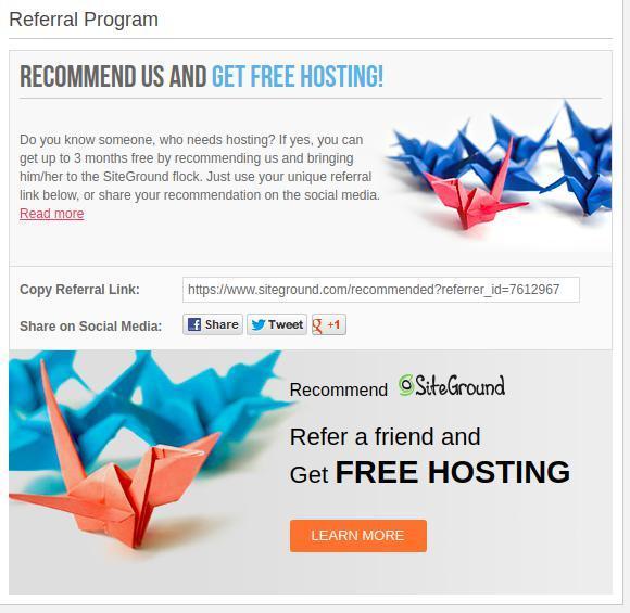 Siteground Referral/Affiliate Program