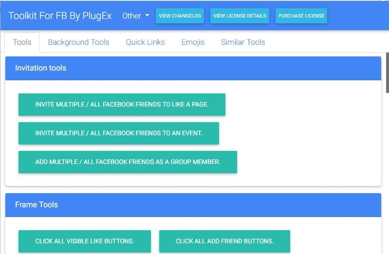 Toolkit For FB by PlugEx Facebook Automation Tool