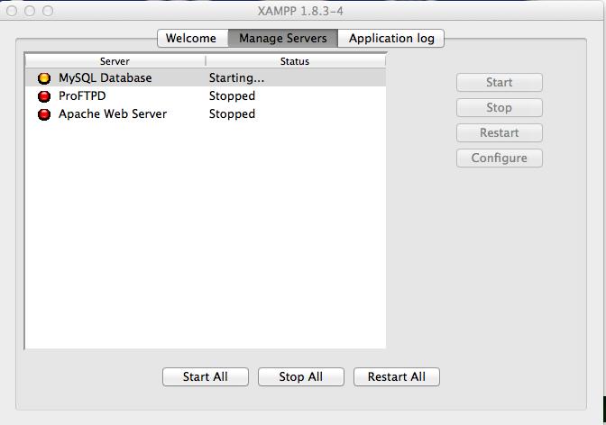 Xampp Run Local web server