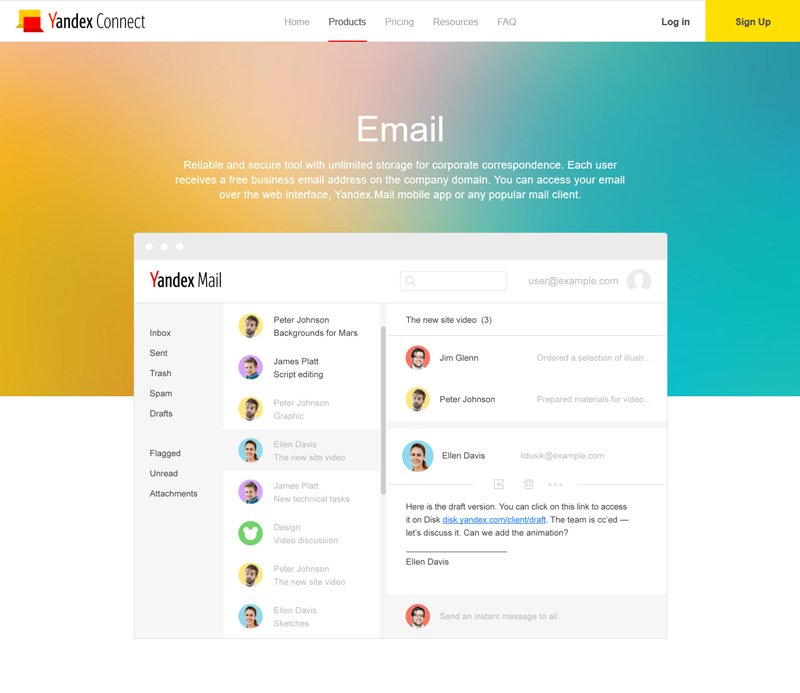 Yandex Connect Free Email, Cloud Storage and more on Your Domain