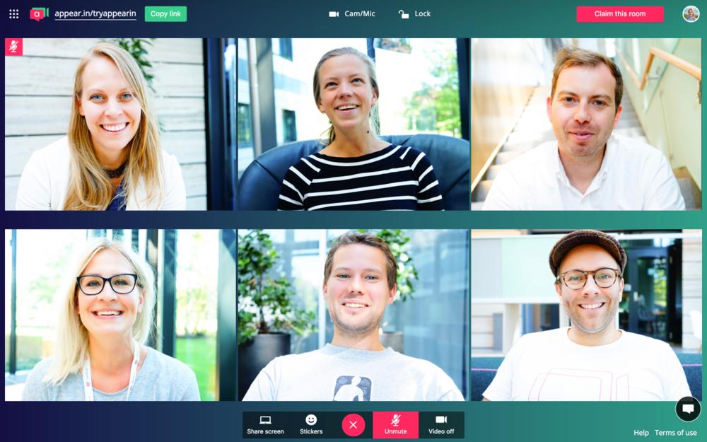 appear.in video meetings