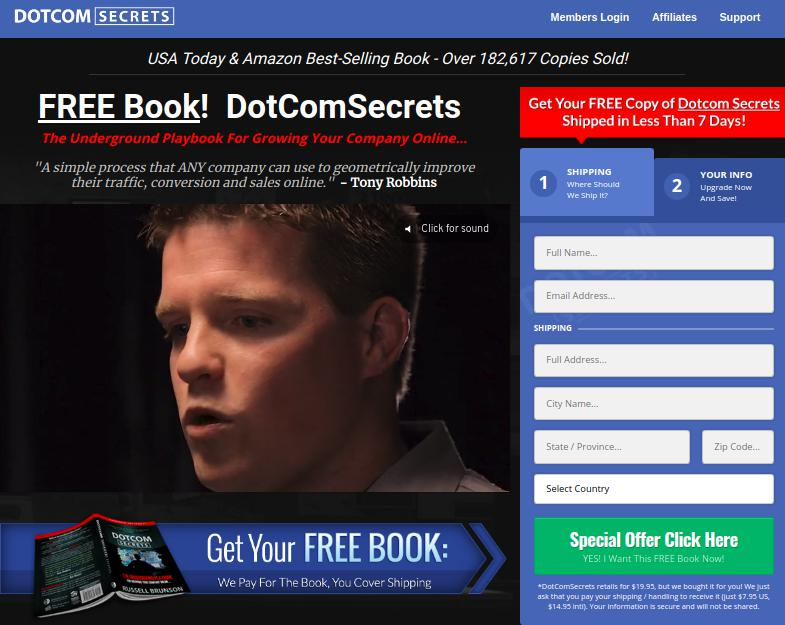 DotComSecrets Book Free Giveaway