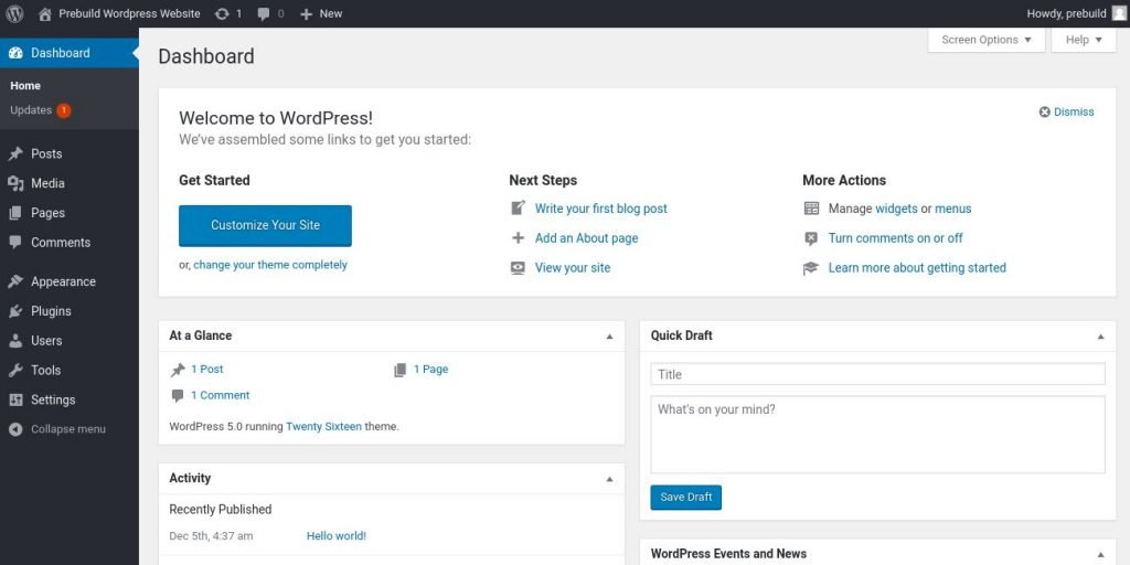 WordPress on Siteground Server