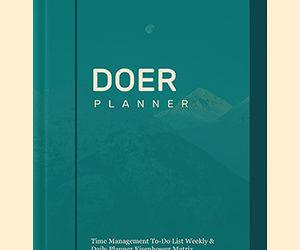 Doer Planner: Eisenhower Matrix Time Management Notebook