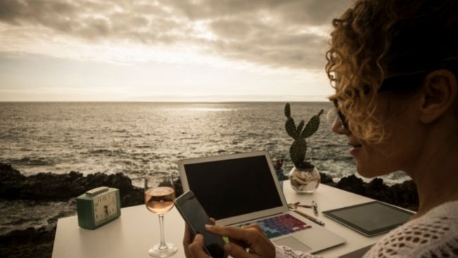 Digital nomads are people who use technology to work remotely