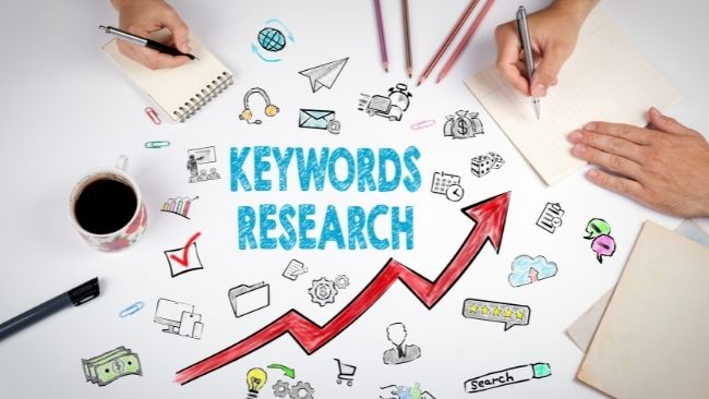 Keywords are words or phrases that people might type into a search engine